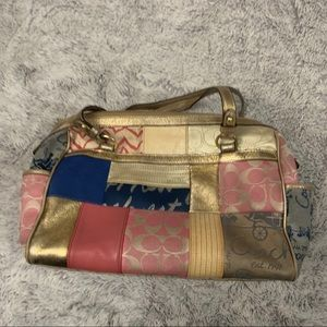 Coach Patchwork Shoulder Bag